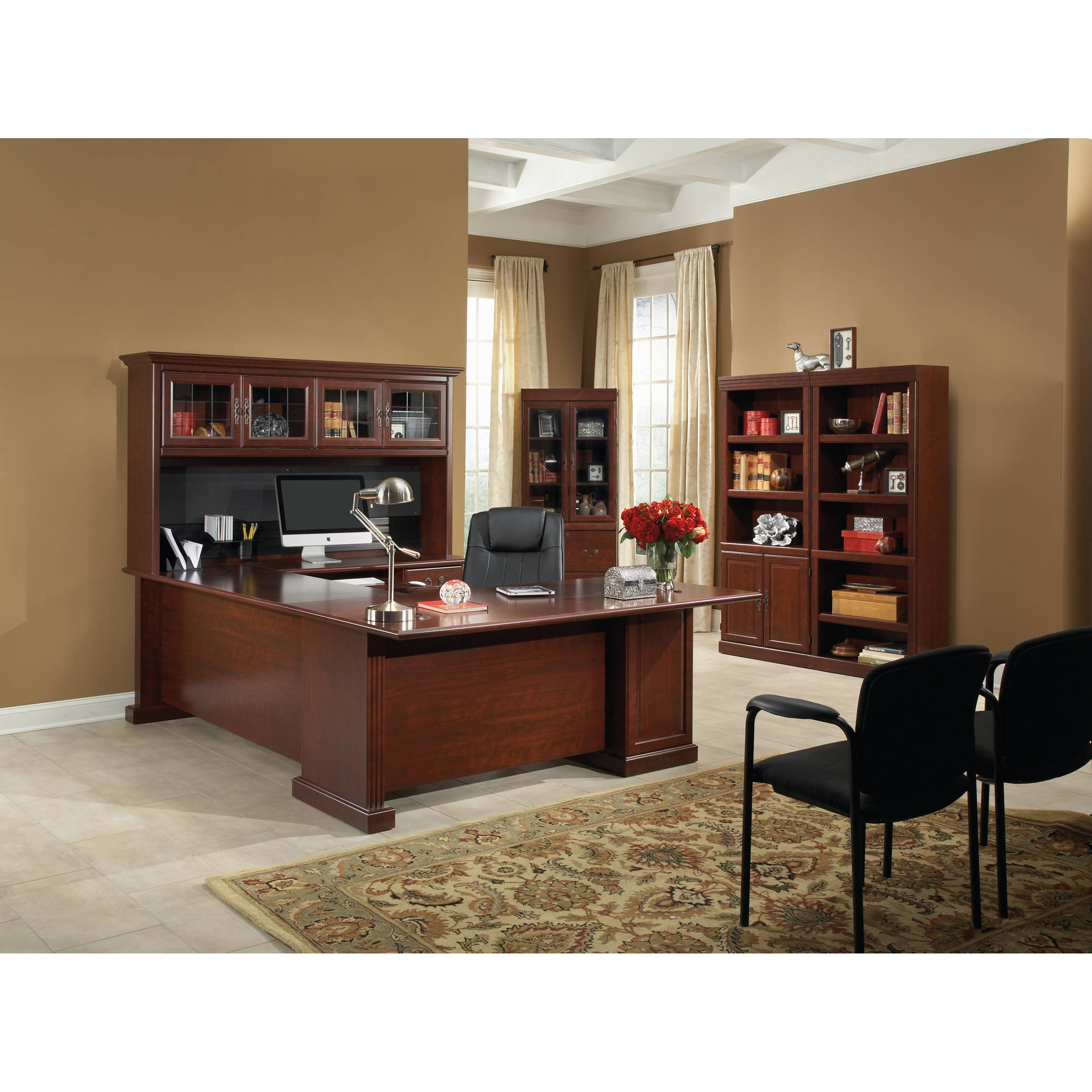 Sauder heritage hill executive desk classic cherry walmart com