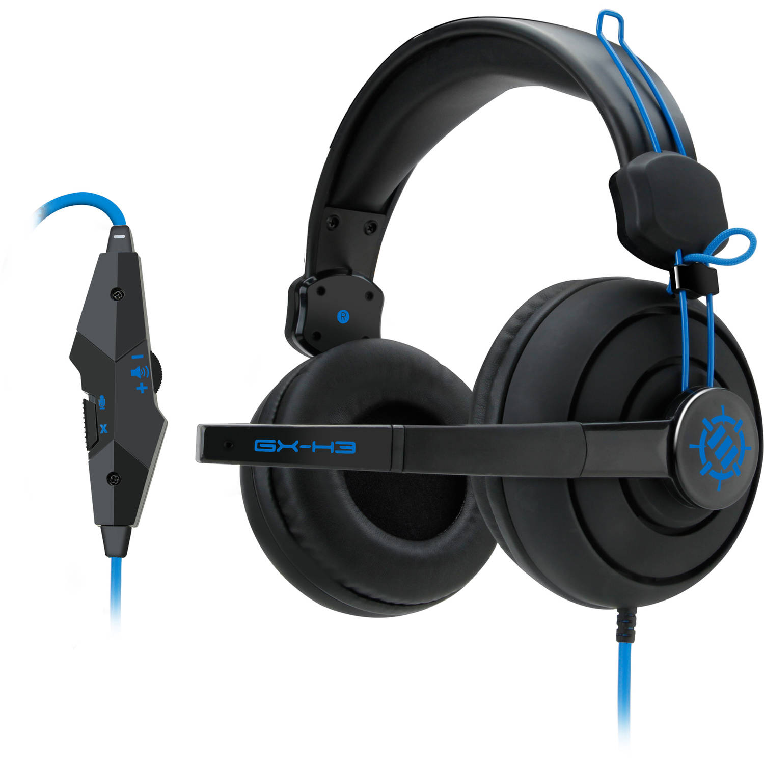 ENHANCE GX-H3 Stereo Gaming Headset with Over-Ear Headphones , Adjustable Mic & In-Line Volume Control - Works with PC Games