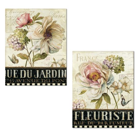 Beautiful Blooming Peony, Rose and Hydrangea Print; Paris Floral Decor by Lisa Audit; Two 11x14in Poster Prints