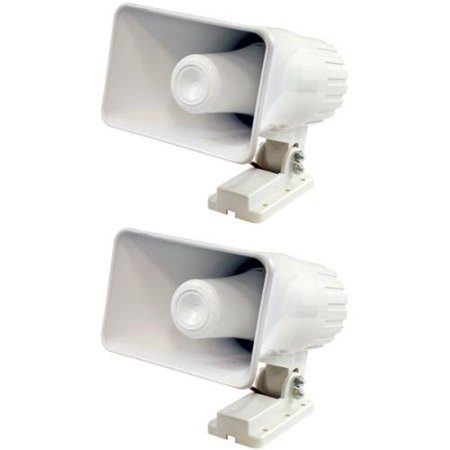 """2) Pyle PHSP4 6"""" 50 Watt Indoor/Outdoor Waterproof Home PA H"""