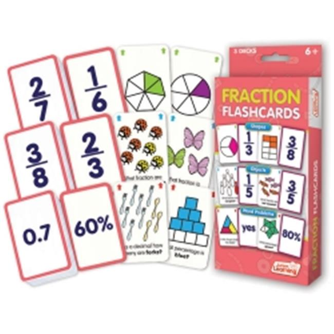 Junior Learning Fraction Flashcards, Shapes, Objects and Word Problems