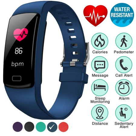 Fitness Tracker with Heart Rate Monitor Blood Pressure Smart Bracelet Color Display Sports Watch Pedometer Step Calorie for Women Men Kids - image 9 of 9