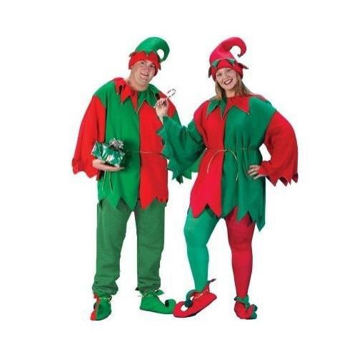 Unisex Adult 5-Piece Christmas Elegant Elf Costume Set - Adult Plus Size