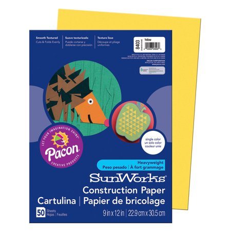 SUNWORKS 9X12 YELLOW 50CT CONSTRUCTION PAPER