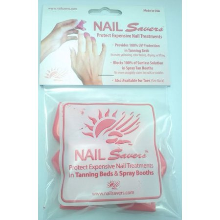NAIL SAVERS UV INDOOR TANNING BED PROTECTION FOR FRENCH MANICURES ACRYLIC NAILS