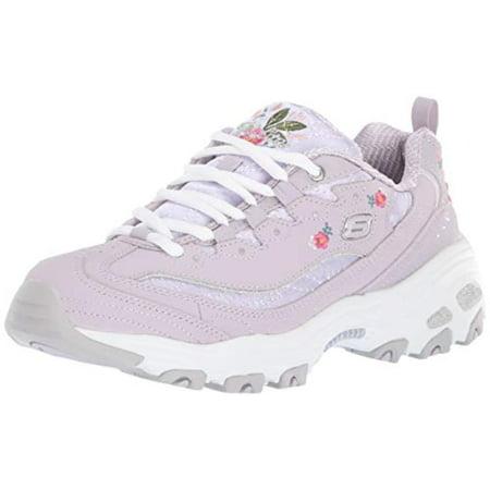 49fcefd2f93 Skechers Women's D'Lites-Bright Blossoms Sneaker, Lavendar