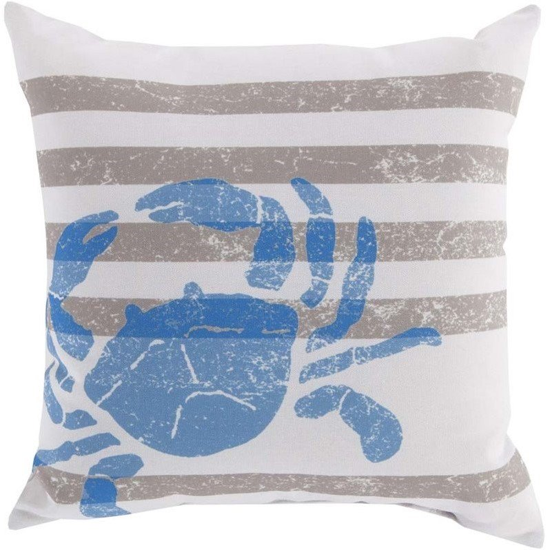 Surya Crab Outdoor Pillow