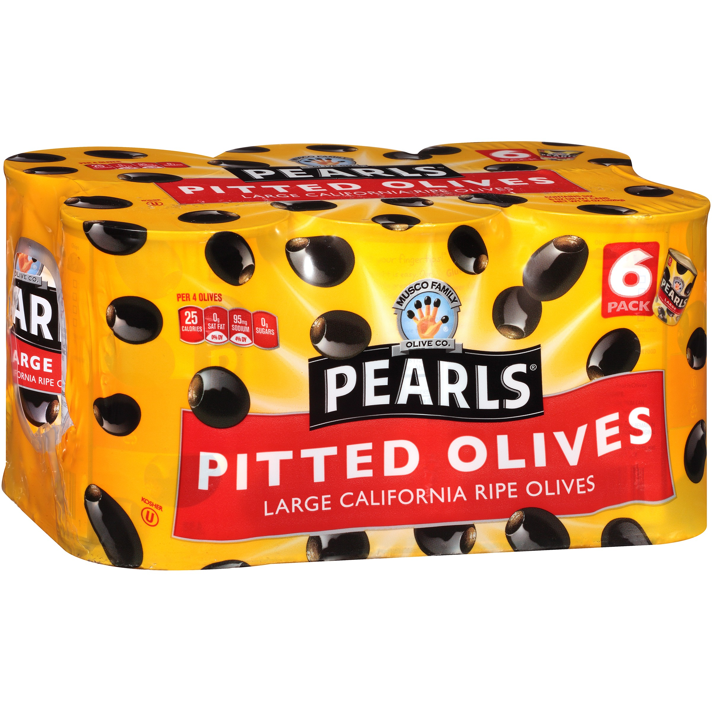 Pearls® Large Pitted California Ripe Olives 6-6 oz Cans