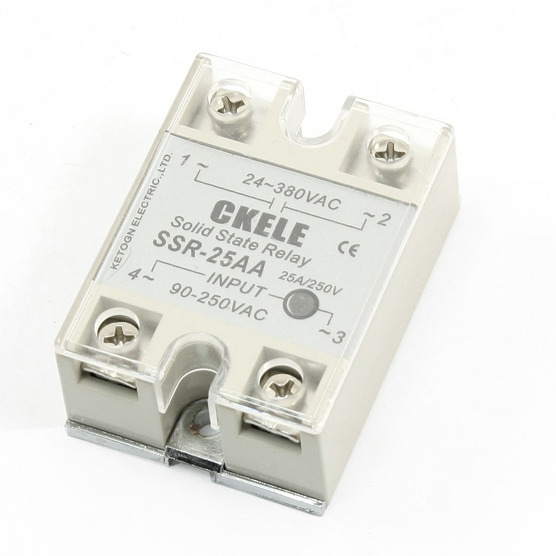 AC 24-380V to AC 90-250V Single Phase Solid State Relay SSR-25AA Model