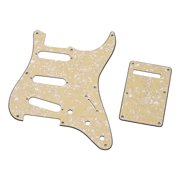 8 Hole Guitar Pickguard Set 3 Ply Panels with Backplate & Screws for ST Guitar