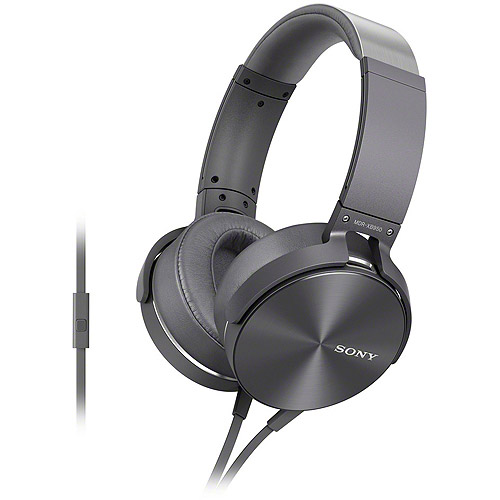 Sony On-Ear Headphones Gray MDRXB950AP/H