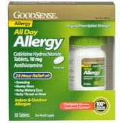 Good Sense All Day Allergy, Cetirizine HCl Tablets, 10 mg 30 Each