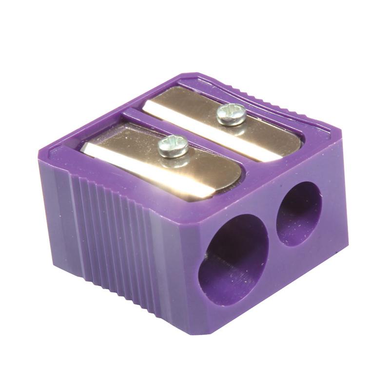 (20 Ea) Dual Hole Plastic Pencil Sharpener