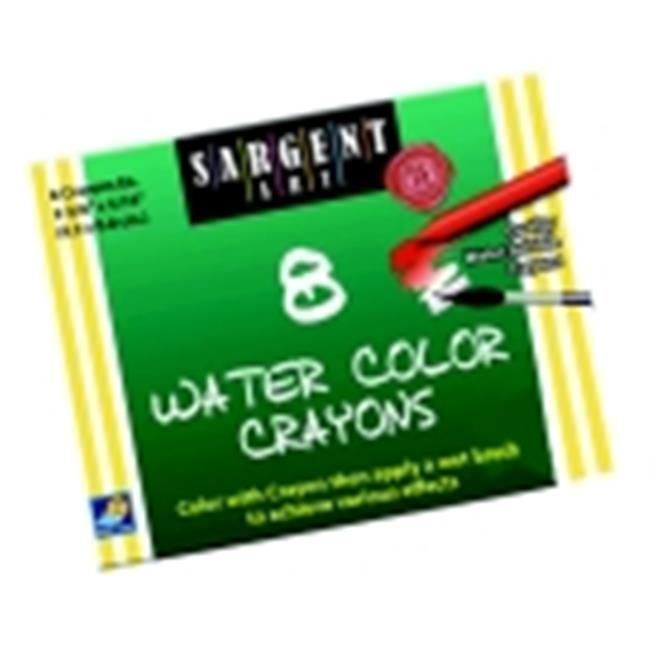 Sargent Art 0. 31 x 3. 63 inch Non-Toxic Water Soluble Watercolor Crayon Set 8