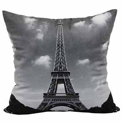 Mainstays Eiffel Tower Throw Pillow, Black by Brentwood