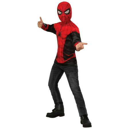 Spider Man Suit (Spider-Man Far From Home: Spider-Man Kids Costume Top (Red/Black)