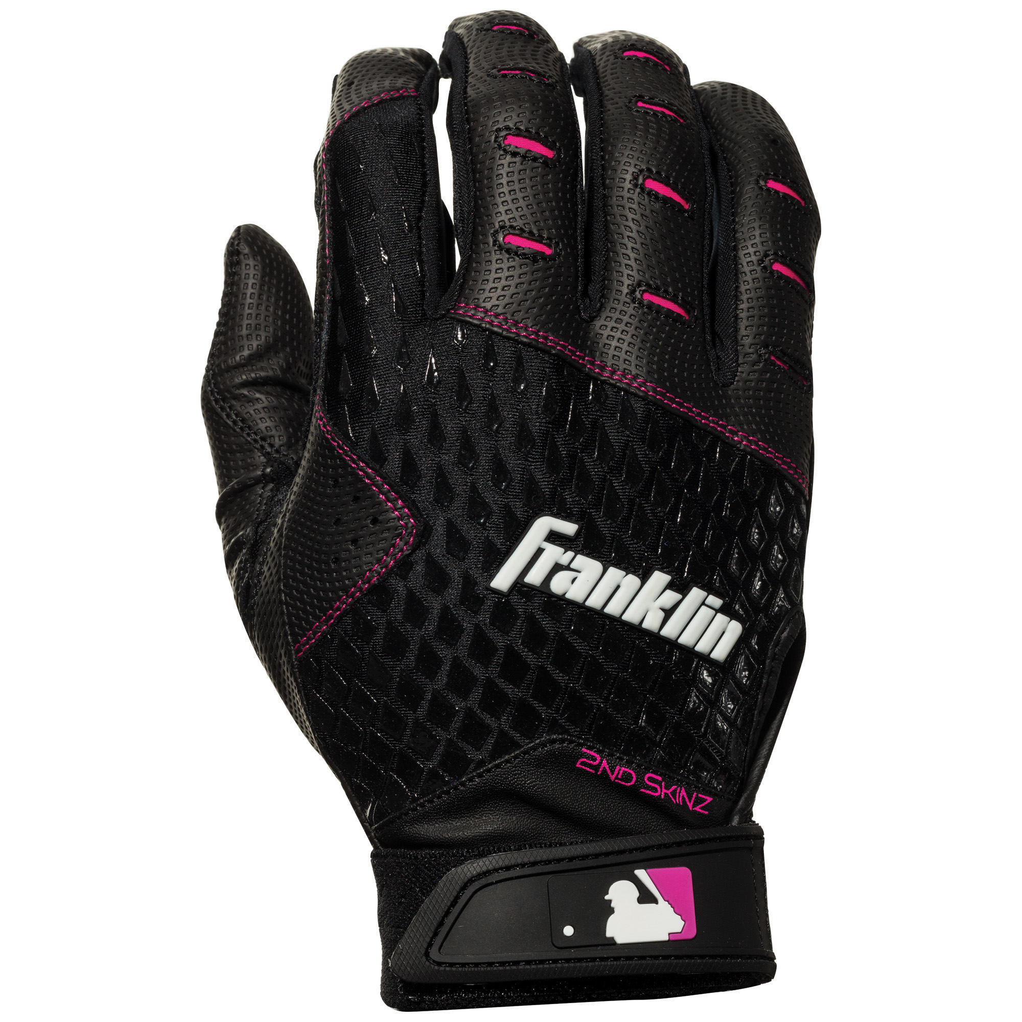 da9c825f Franklin Sports MLB 2nd-Skinz Fastpitch Batting Gloves - Black/Pink -  Women's Medium