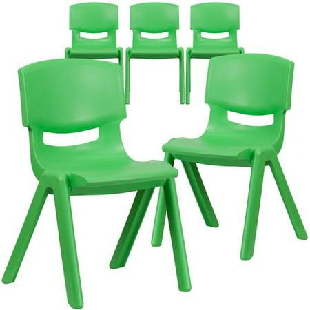 Flash Furniture 15  Plastic Classroom Chair (Set of 5)