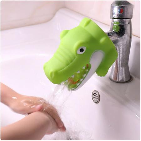 Kitchen Bathroom Duck Faucet Extender Sink Handle Extender Child Washing -