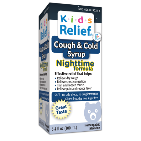 Homeolab USA Kids Cough & Cold Relief Nighttime Formula, 3.4 Fl