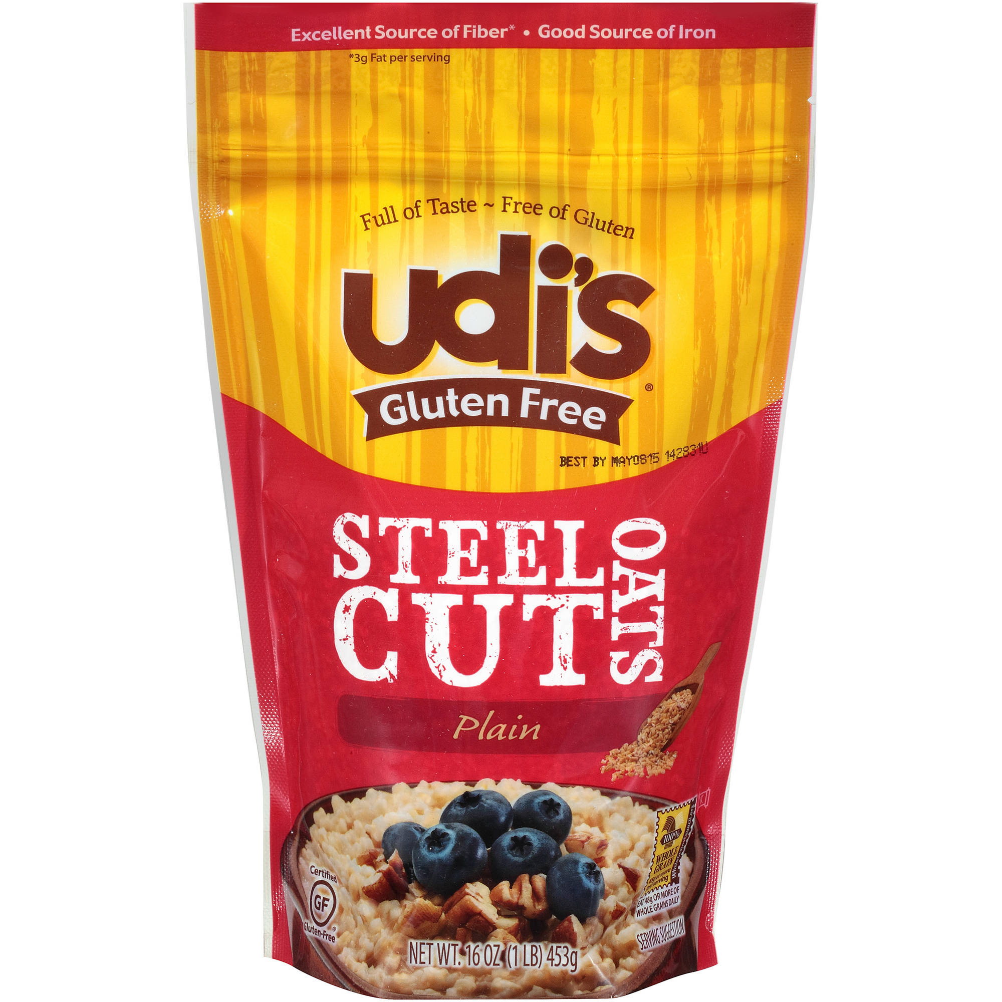 Udi's Gluten Free Plain Steel Cut Oats, 16 oz