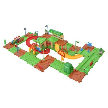Costway 77PCS B/O Kids Child Plastic Brick Toys Electronic Building Blocks Railway Train - image 1 de 9