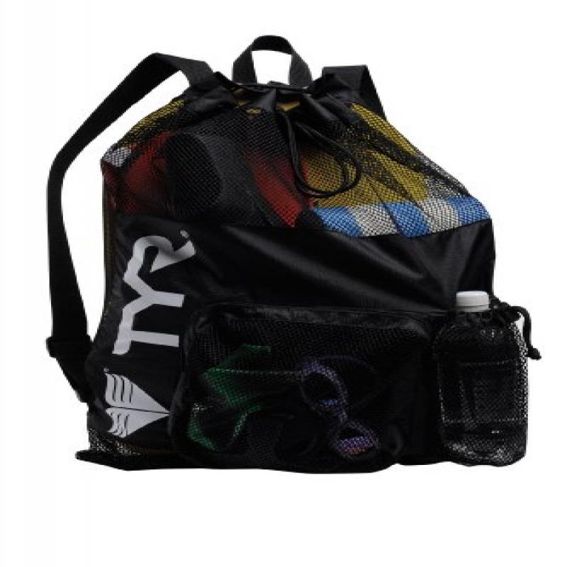 "TYR Big Mesh Mummy Gear Bag, Black, 20.25"" x 23.5"" (Large)"
