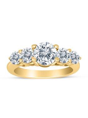 1.50ctw Diamond Five Stone Graduated Ring in 14k Yellow Gold