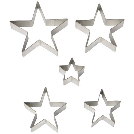 Fox Run Stars Cookie Biscuit Pastry Dough Cutters Jello Craft Molds, 5-Piece - Oval Fluted Dough Cutters