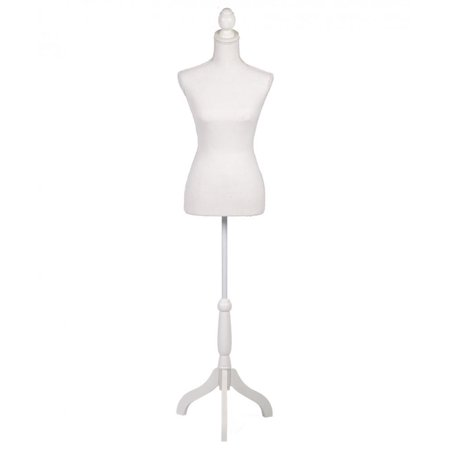 Female Mannequin Torso Clothing Display W/ Tripod Wooden Base White H170 - Skeleton Torso