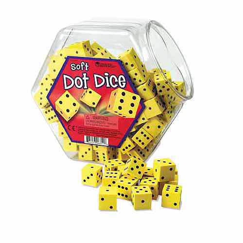 Learning Resources Hands-On-Soft Dot Dice Bucket