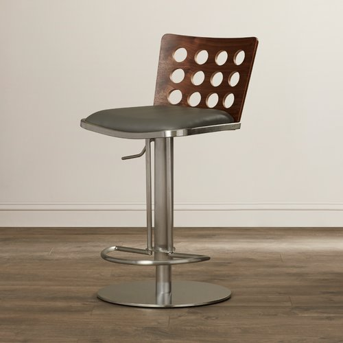 Orren Ellis Breslin Adjustable Height Swivel Bar Stool