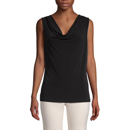 Bebe Sleeveless (Sleeveless Cowlneck Top )