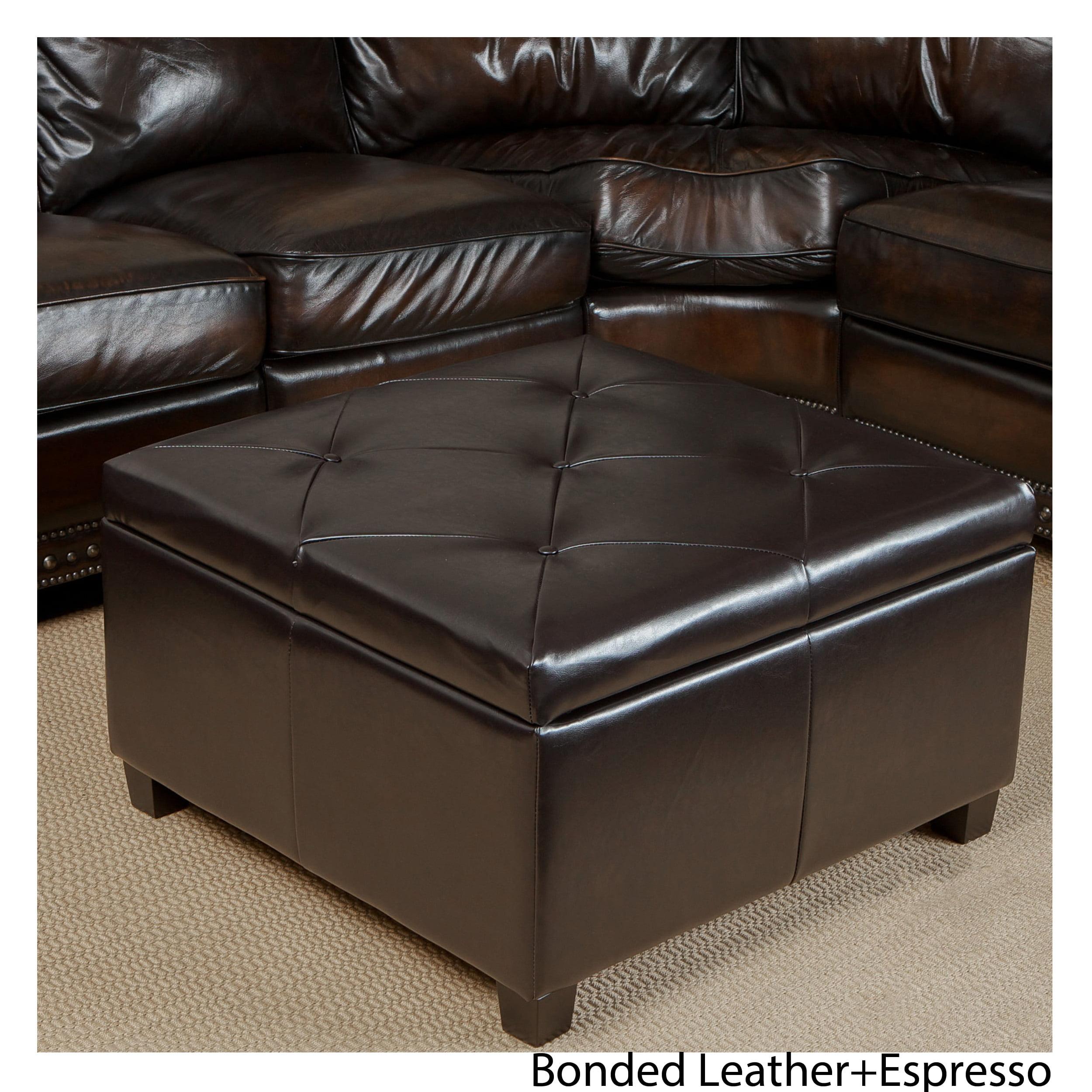 Pearson leather storage ottoman
