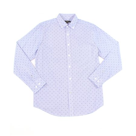NEW Blue Mens Size Small S Micro Check Button Down Shirt