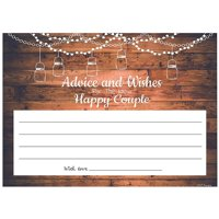 Advice and Wishes Cards | Rustic Happy Couple | Perfect for the Bride and Groom, Baby Shower, Bridal Shower, Graduate or Any Occasion 50 Ct. 4x6