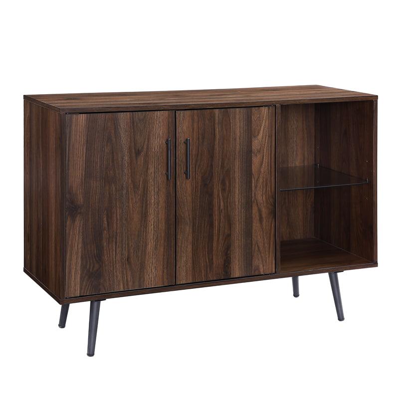 44 inch Assymetrical Dark Walnut Buffet TV Stand