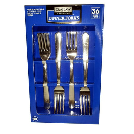 Absolute Fork (Daily Chef Dinner Forks, 36 Pc)