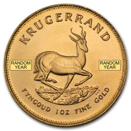 1 oz Gold South African Krugerrand Coin Random Year 24k Gold Coin Mint