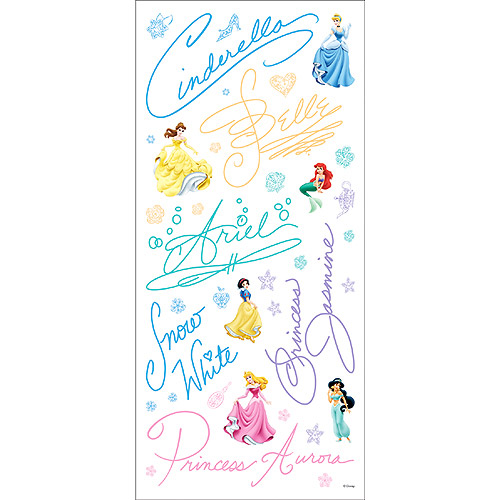 Disney Stickers - Princess Signatures