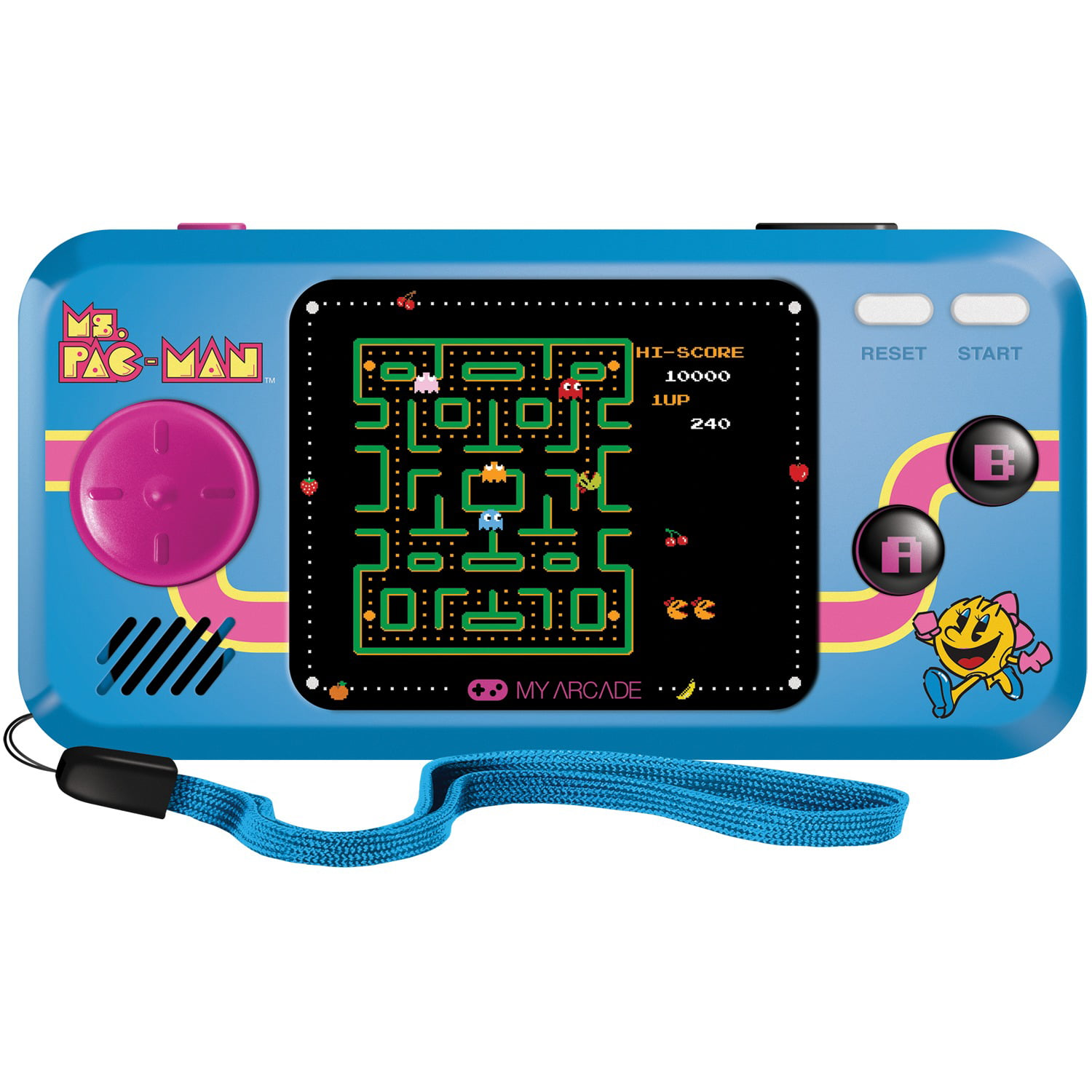 Ms Pac Man Pocket Player Collectible Handheld Game Console With 3 Games Walmart Com Walmart Com