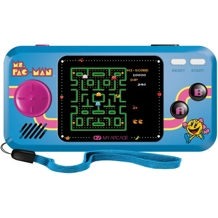 Ms. Pac-Man Pocket Player - Collectible Handheld Game Console with 3 Games