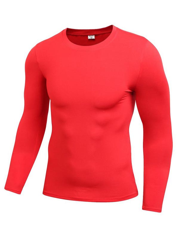 Men/'s Long Sleeve Compression Baselayer Body Under Shirt Tight Sports Shirt Tops