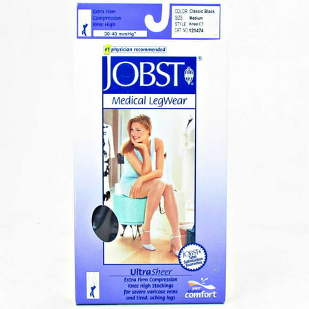 Jobst Ultrasheer 15-20 mmHg Med Espresso Thigh High Silicone Lace Strip
