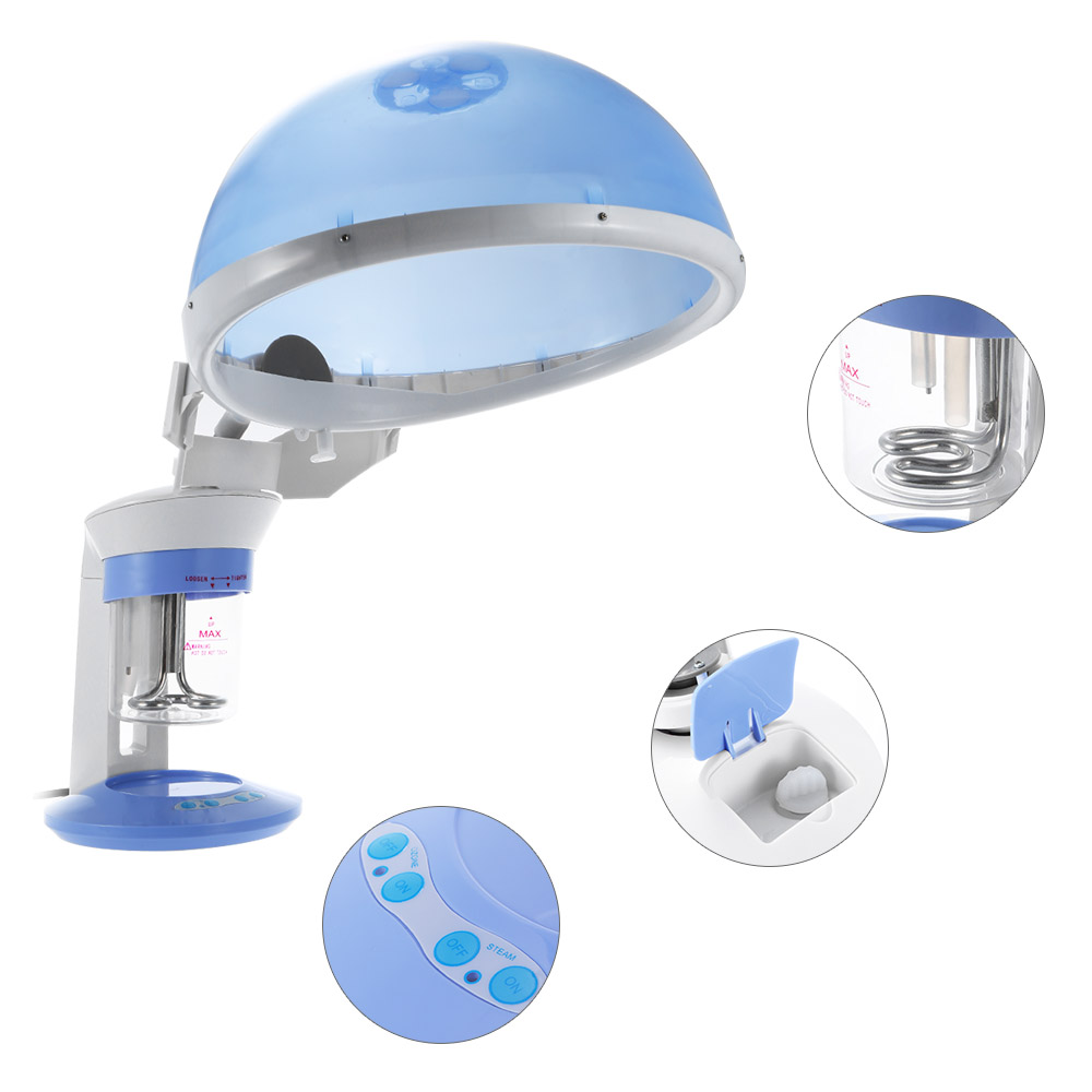 Anself Portable Face & Hair Steamer Mini Facial Hot Steamer Spa