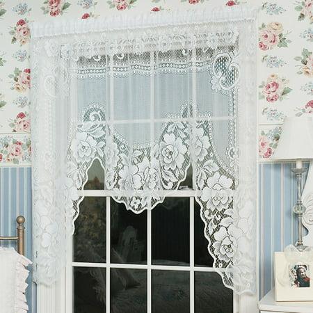 swag curtains walmartcom ashley kitchen valance tier and swa
