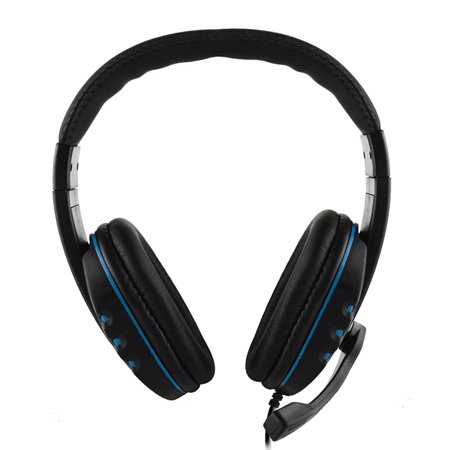 3.5mm Wired Gaming Headphones Over Ear Game Headset Noise Canceling Earphone with Microphone Volume Control for PC Laptop Smart Phone ()