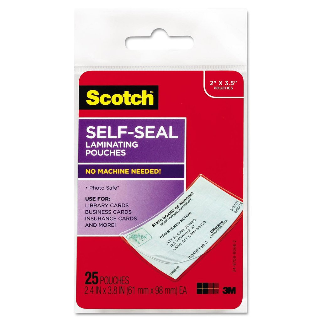 3M Scotch Self Laminating Business Card Pouches
