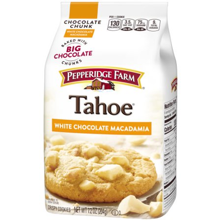 (2 Pack) Pepperidge Farm Tahoe Crispy White Chocolate Macadamia Cookies, 7.2 oz.