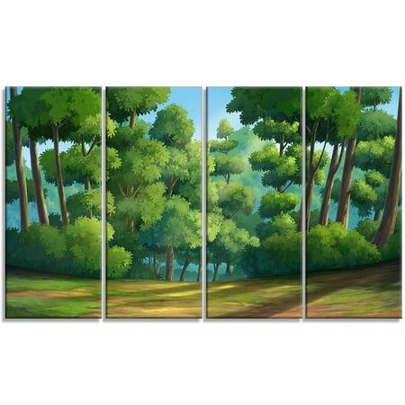 Green Jungle with Dense Trees - Oversized Landscape Wall Art Print - image 2 de 3